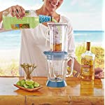 Margaritaville Key West Frozen Concoction Maker with Easy Pour Jar and XL Ice Reservoir 11 Makes up to 2.5 pitchers of frozen concoctions thanks to its extra-large ice reservoir Creates premium shaved ice rather than crushed ice like a blender, for an authentic frozen concoction experience. Key West Frozen Concoction Maker with 36-ounce blending jar for creating fun, tropics-inspired party drinks Includes 4 pre-programmed drink settings, plus automatic shave 'n blend cycle and manual blend only/shave only cycles