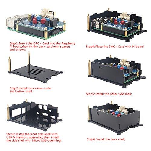 Geekworm Raspberry Pi 3 Model B+ DAC I2S Interface PiFi DIGI DAC+ HIFI Digital Audio Sound Card + DAC+ Acrylic Case for Raspberry Pi 3 Model B+ / 3B / 2B / B+ by Geekworm (Image #7)