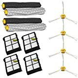 SHP-ZONE Tangle-Free Debris Extractor Set & Side Brushes & Hepa Filters replacement Kit For iRobot Roomba 800 series 870 880