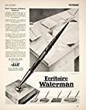 Best old-print Writing Desks - 1928 Ad French JIF Ecritoire Waterman Ballpoint Pen Review