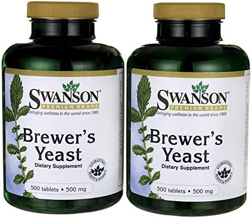 Swanson Brewer s Yeast 500 Milligrams 1000 Tabs 2 Bottles