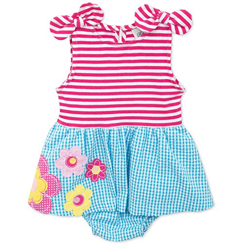 Rare Editions Baby Girls 2-Piece Dress & Diaper Cover Set - Mixed Print - 18M