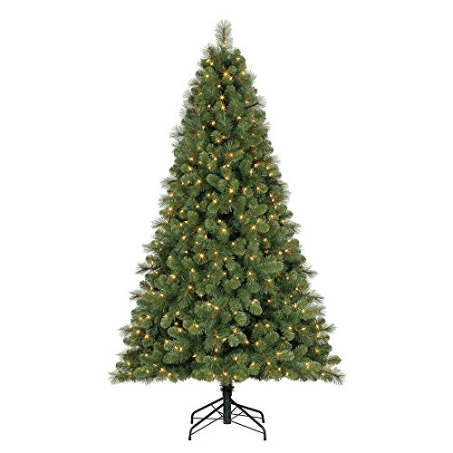 Home Heritage 7 ft. Artificial Cascade Pine Christmas Tree w/Changing Lights