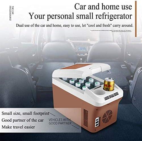 車の冷蔵庫、電気冷却ボックス15 Lポータブルミニ冷蔵庫多機能屋外キャンプコンパクト12 v / 24 v / 230 V車のトラック家庭用ホット/コールドフリーザー、Brown15L12V / 24V / 230 V
