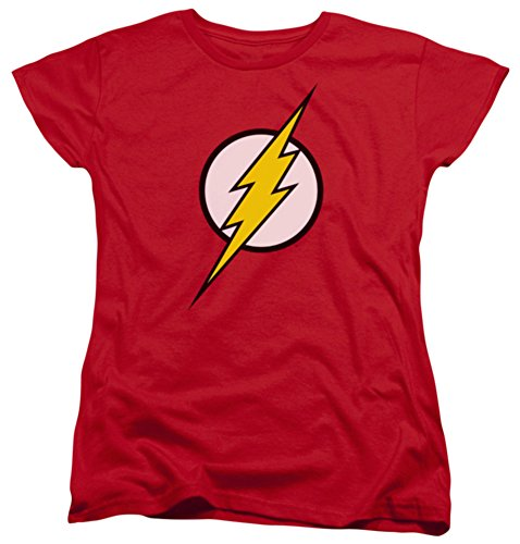 Justice League Of America Women's Flash Logo Girls Jr Small