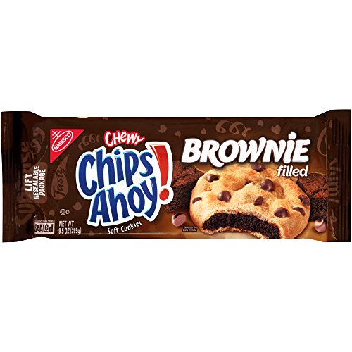 Nabisco Chips Ahoy! Chewy Chocolate Chip Cookies, Brownie, 9.5 oz Chewy Chocolate Cookies