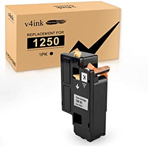 V4INK 1 Pack Black Toner Cartridges New Replacement for use with Dell 1250c Dell 1350cnw Dell 1355cn 1355cnw c1760nw c1765nf c1765nfw Printer