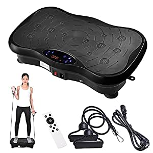 Yescom 3500W Slim Fitness Vibration Machine Platform Vibration Plate Exercise Trainer Machine with Bluetooth Black