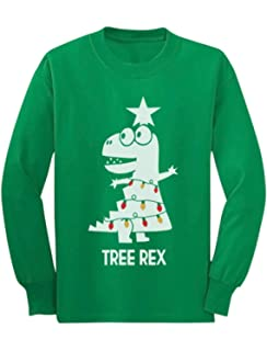 3c66cb994380d3 Tree Rex Cute Funny T-Rex Dinosaur Christmas Toddler/Kids Long Sleeve T-