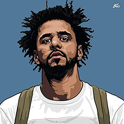 MOTIVATION4U J. Cole, Jermaine Lamarr Cole, an American Rapper, Singer, Songwriter and Record Producer 12 x 18 inch Poster
