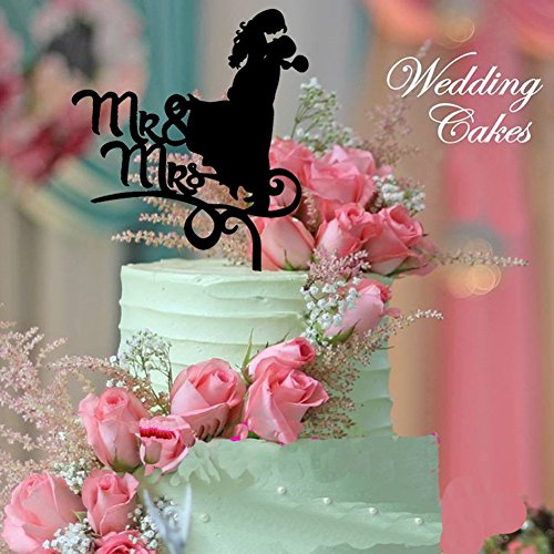 Dragon Wedding Cake (B&Y Mr. & Mrs. Kissing Couple Silhouette Acrylic Wedding Cake Topper with)