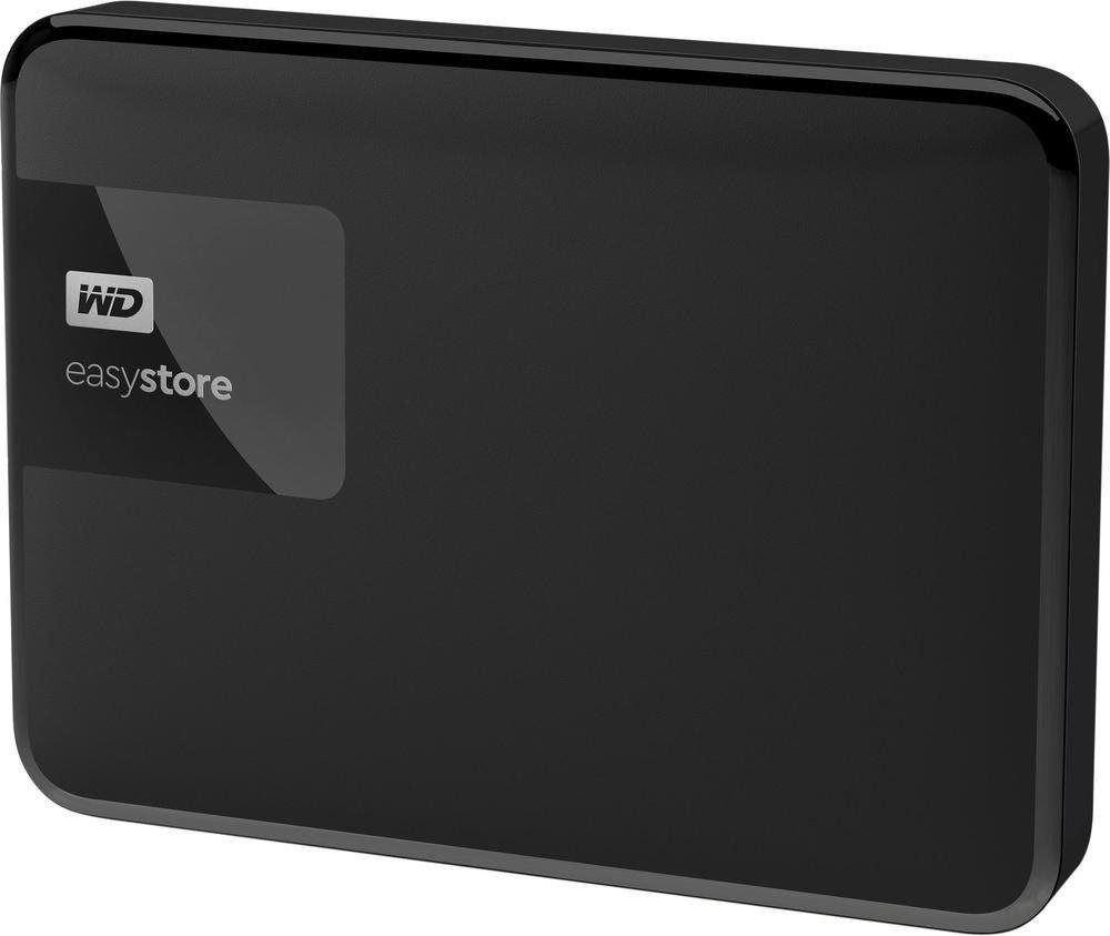 WD Easystore 4TB External USB 3 0 Portable Hard Drive - Black  (WDBKUZ0040BBK-WESN)
