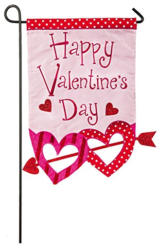 NEW Evergreen Appliquéd Valentine's Day Hearts Arrow Decora