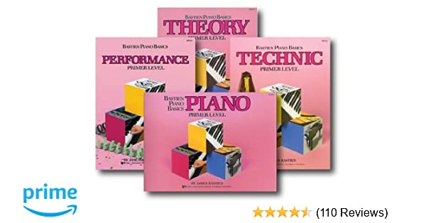 4 Book Pack Bastien Piano Basics Primer Level Lesson//Theory//Perf//Technic