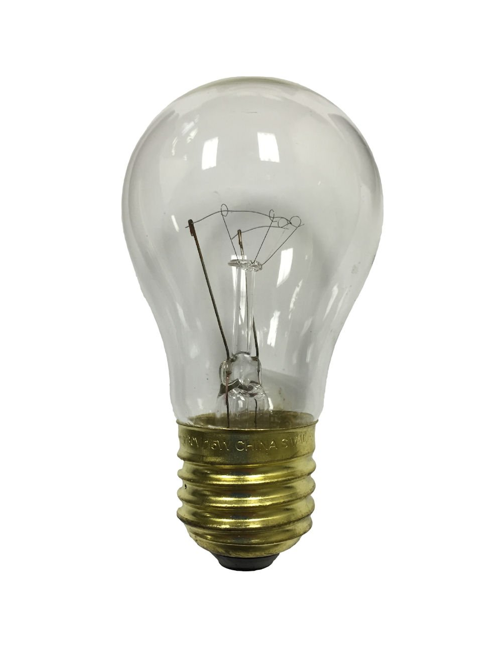 A15 15 Watts Clear Outdoor Light Bulbs, 25-pack, recommended for commercial string lights