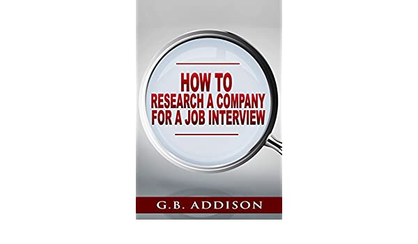 how to research a company for a job