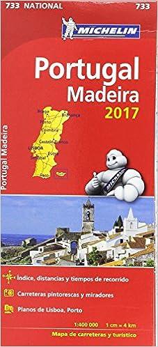 Mapa National Portugal Michelin Espana Portugal S A