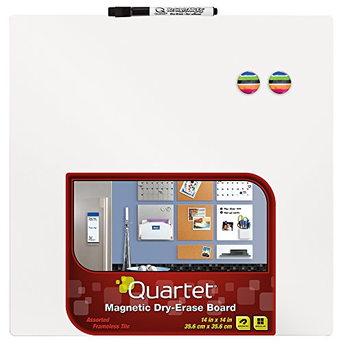Quartet Magnetic Dry-Erase Board Tile, 14