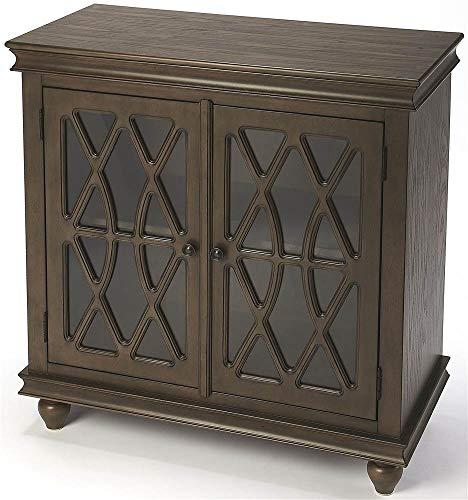 2-Door Accent Cabinet in Dark Brown