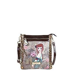 Nicole Lee 9.5 Inch Crossbody Bag, Tine, One Size