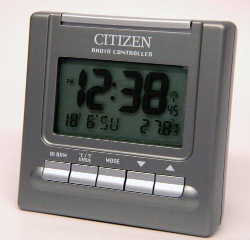 Citizen Radio Controlled Alarm Clock Rx8230 B Amazon De Home Kitchen