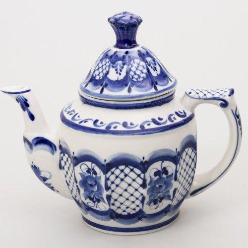 Gzhel Porcelain Teapot for Samovar