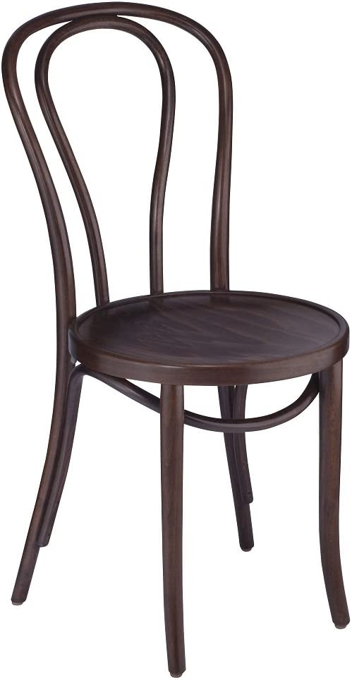 European Bentwood Wood Dining Chairs Walnut 2-Pack
