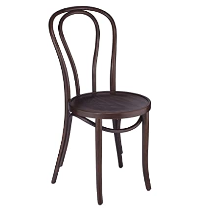 European Bentwood Wood Dining Chairs Walnut 2 Pack
