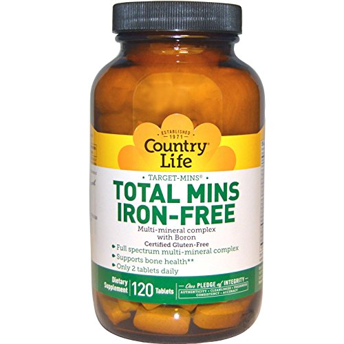 - Country Life Target Mins Iron-free Total Mins Multi-mineral Complex, 120-Count