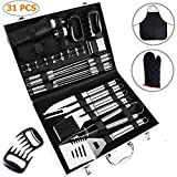 Ohuhu BBQ Tools Set, 31-Piece Grill Tools Set, Heavy Duty Stainless Steel Barbecue