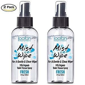 Amazon.com: 2 PACK Toilet Tissue Spray - Mist N Wipe - Better Than ...