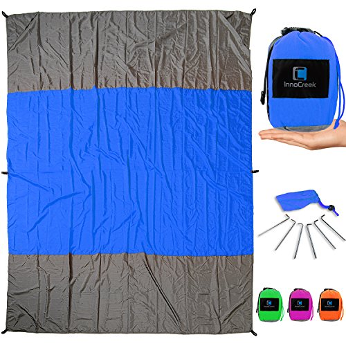 InnoCreek Extra Large 9 x 7 ft Outdoor Beach Blanket/Picnic...