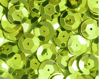 (5mm CUP SEQUINS Lime Loose sequins for embroidery, applique, arts, crafts, and embellishment.)