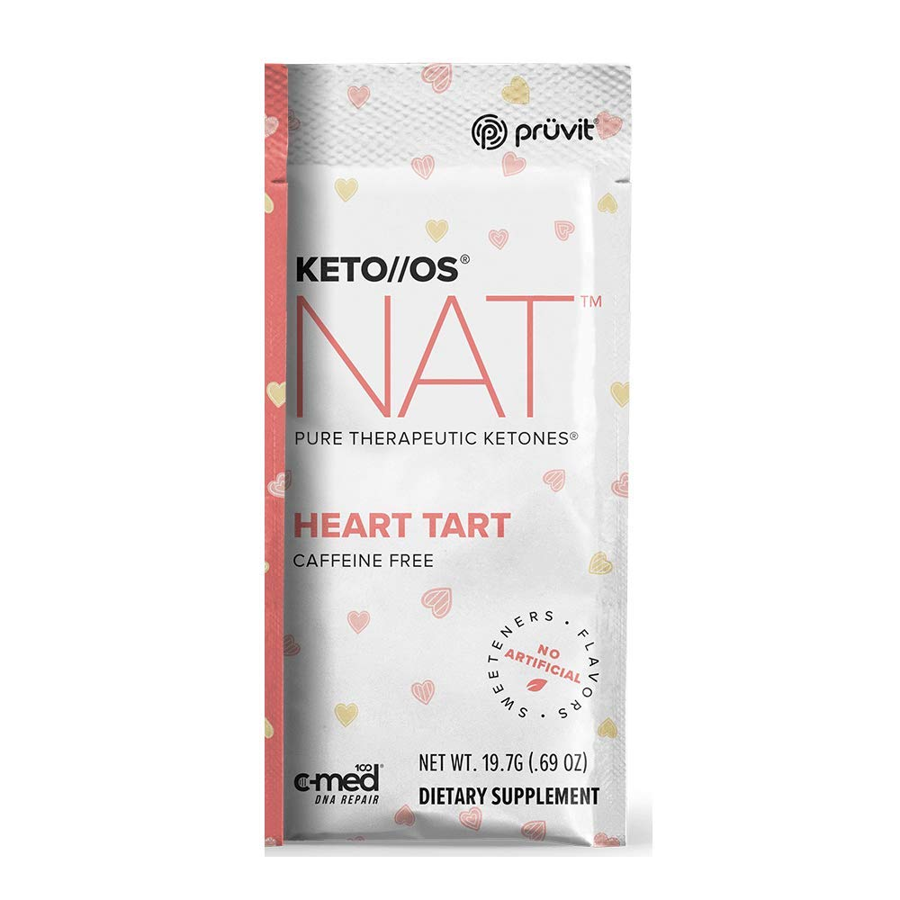 Pruvit Keto//OS NAT Caffeine Free, BHB Salts Ketogenic Supplement - Beta Hydroxybutyrates Exogenous Ketones for Fat Loss, Workout Energy Boost Through Fast Ketosis. 20 Sachets (Heart Tart) by Keto//OS NAT (Image #1)