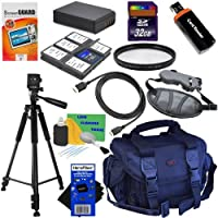 12pc Bundle 32GB Accessory Kit w/LP-E10 Battery Pack + HeroFiber Ultra Gentle Cleaning Cloth for Canon EOS Rebel T3 (1100D, KISS X50) Digital SLR Camera
