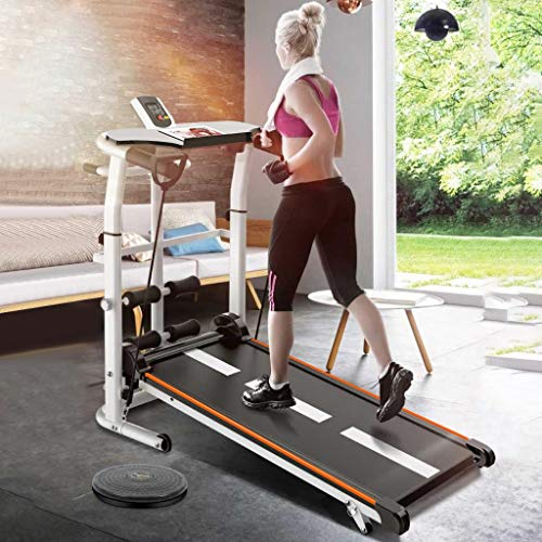 UAMSISTE US Fast Shipment Walking Treadmill,Folding Mechanical Treadmill Shock Running Supine T-wisting Draw Rope 4-in-1…
