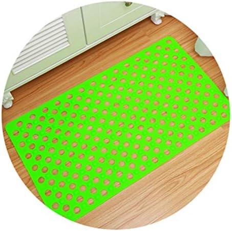 GHHQQZ バスルームのカーペット 43x77cm ノンスリップ 疎水性 吸盤 PVC シャワーを浴びる キッチン フットパッド バスルームラグ、 3色、 厚さ0.5 cm (Color : Green, Size : 43x77cm)