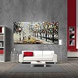 Yotree Paintings, 24x48 Inch Paintings Snowy Night