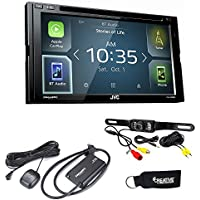 JVC KW-V830BT Android Auto/Apple CarPlay CD/DVD with Back up Camera and Sirius XM Tuner SXV3001
