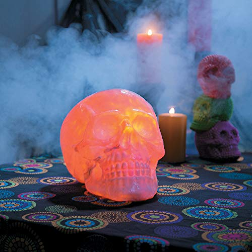 Fun Express - Fire And Ice Skull Decoration for Halloween - Home Decor - Decorative Accessories - Home Accents - Halloween - 1 Piece