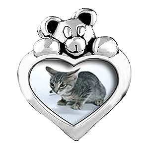 Gatito Gato Azul Aguamarina cristal marzo birthstone I Love You corazón cuidado oso Charm Beads Pulseras