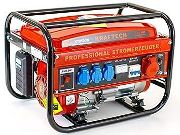 Kraftech KT-8500W Generador de corriente a gasolina, con 3,0 kW de ...