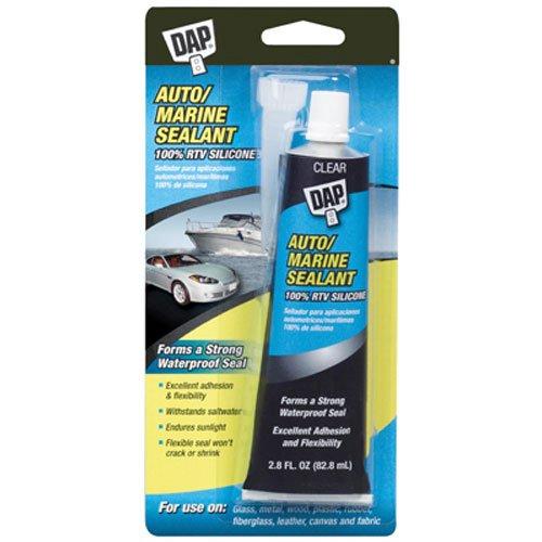 Dap 00694 2.8-Ounce Silicone Rubber Auto/Marine Sealant, Clear -