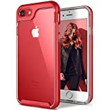iPhone 7 Case, Caseology [Skyfall Series] Transparent Clear Slim Scratch Resistant Cover Protective Frame [Red] for Apple iPhone 7 (2016)