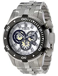 Invicta Men's 11602 Bolt Reserve Chronograph Silver Textured Dial Stainless Steel Watch