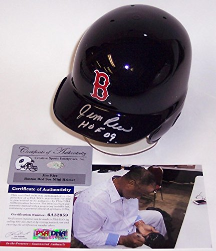 Jim Rice Autographed Hand Signed Boston Red Sox Mini Helmet - PSA/DNA Certified - Autographed MLB Mini Helmets (Mini Mlb Autographed Helmets)