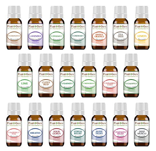 Essential Oil Set 20-10 ml 100% Pure Therapeutic Grade For Aromatherapy Diffuser, Skin, Body, Hair. Perfect for DYI Crafts, Soap, lotion, Cream, Lip Balm and Candle Making.