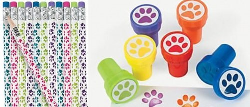 Party Favors Print Pencils Stampers