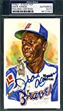 HANK AARON PSA DNA Coa Autograph Perez Steele Hand Signed Authentic