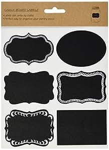 Kel-Toy Chalkboard Label Stickers, Assorted (18 Pack)
